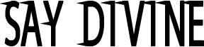 Say Divine Font