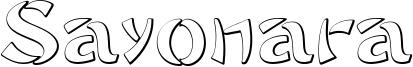 Sayonara Font
