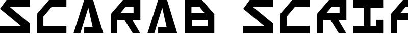 Scarab Script Font