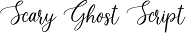 Scary Ghost Script Font
