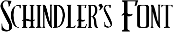 Schindler's Font Font