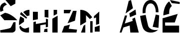 Schizm AOE Font
