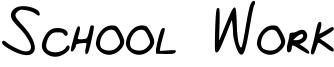 School Work Font
