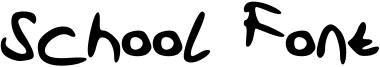 School Font Font