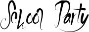 School Party Font
