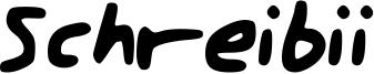 Schreibii Font