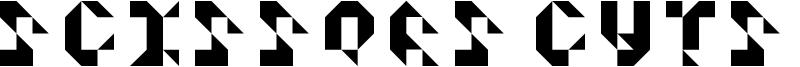 Scissors Cuts Paper Font