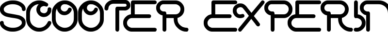 Scooter Experiment Font