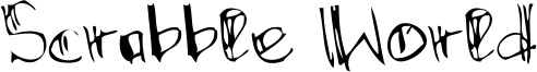 Scrabble World Font