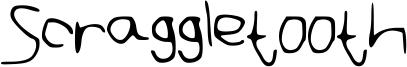 Scraggletooth Font