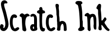 Scratch Ink Font