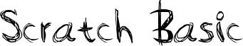 Scratch Basic Font