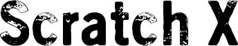 Scratch X Font