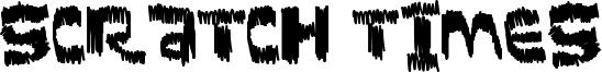 Scratch Times Font