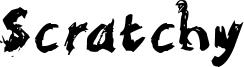 Scratchy Font