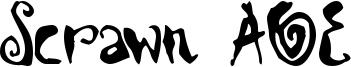 Scrawn AOE Font