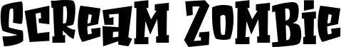 Scream Zombie Font