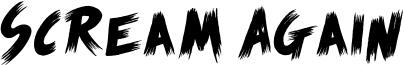 Scream Again Font