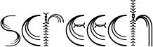 Screech Font