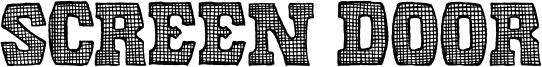 Screen Door Font