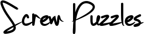 Screw Puzzles Font