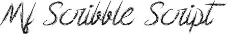Mf Scribble Script Font
