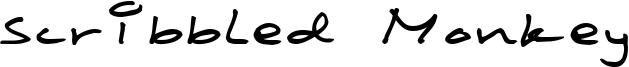 Scribbled Monkey Font