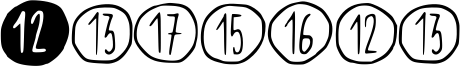Scribynumbers Font