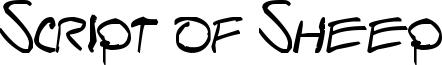 Script of Sheep Font