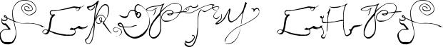 Scripty Caps Font