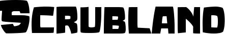 Scrubland Font