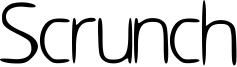 Scrunch Font