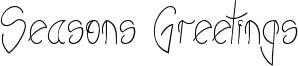 Seasons Greetings Font