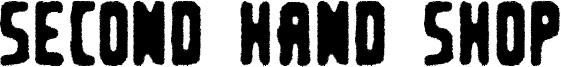 Second Hand Shop Font