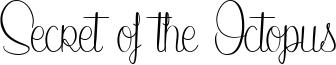 Secret of the Octopus Font
