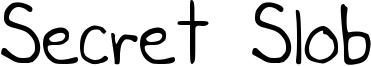 Secret Slob Font