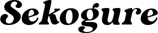 Sekogure Font
