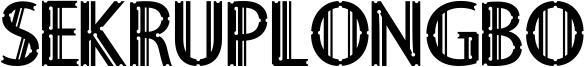 Sekruplongbo Font