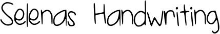 Selenas Handwriting Font