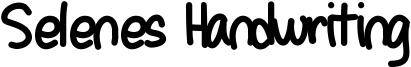 Selenes Handwriting Font