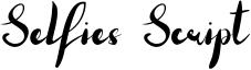 Selfies Script Font