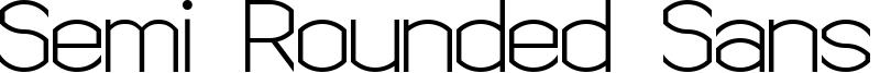 Semi Rounded Sans Serif 7 Font