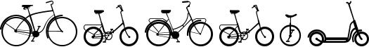 Sepeda Font
