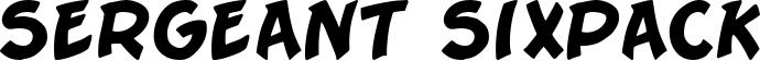 Sergeant Sixpack Font