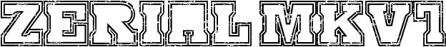 Serial MKV1 Font