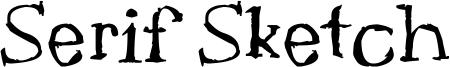 Serif Sketch Font