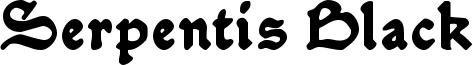 Serpentis Black Font