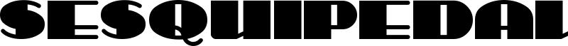 Sesquipedalian Font
