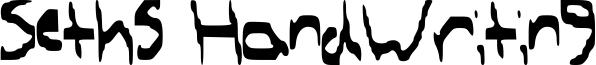 Seths HandWriting Font
