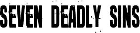 Seven deadly sins Font